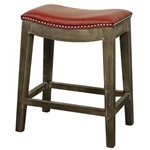Demilune Stool - Red