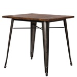 Gun Metal + Wood Dining Table