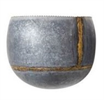 Galvanized Metal Wall Container - Small