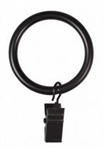 Large Clip Curtain Rings, Black