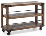 Low Distressed Shelving Unit