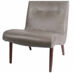 The Luna Chair - Vintage Grey Bonded Leather