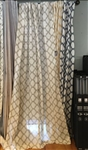 Taupe Cross Curtain - 84""