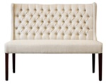 Tufted Wing Dining Bench