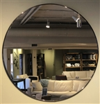 "34"" Round Framed Mirror"