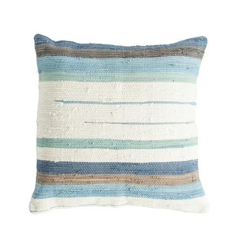 Blue White Striped Floor Pillow