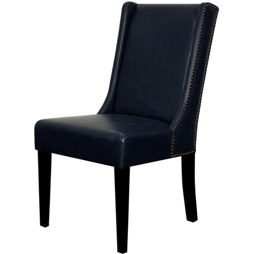 Bentley Dining Chair - Navy Leather