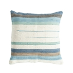 Blue & White Striped Floor Pillow
