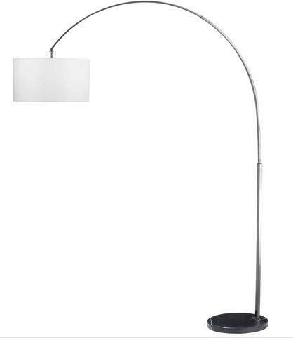 Brushed Steel Arc Floor Lamp