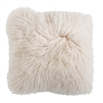 Cream Mongolian Lamb Fur Pillow