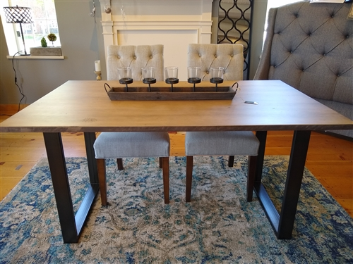Custom Wood & Metal Dining Table