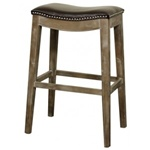 Demilune Stool Brown - Bar Height