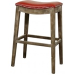 Demilune Stool Red - Bar Height