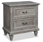 Distressed Gray Night Stand