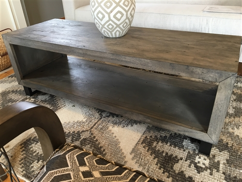Driftwood Coffee Table.Driftwood Gray Modern Coffee Table