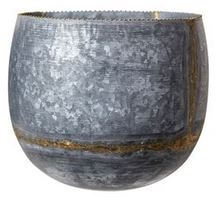 Galvanized Metal Wall Container - Large