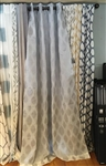 Gray Diamond Curtain - 84""