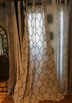Gray Metallic Geo Curtain - 84""