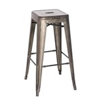 Gun Metal Bar Stool