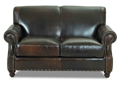 Greenwich 63 Leather Apartment Sofa Loveseat
