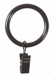 Large Clip Curtain Rings, Espresso