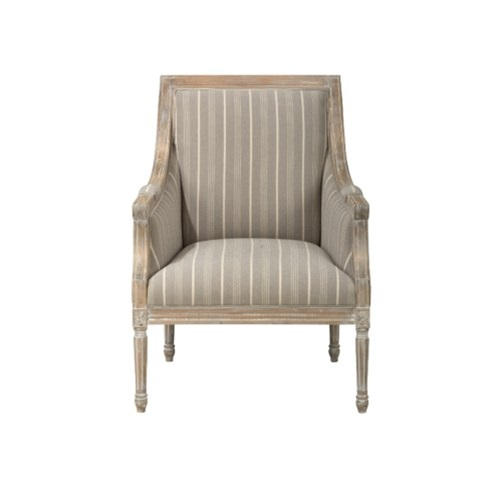 The Lenore Chair - Taupe Stripes