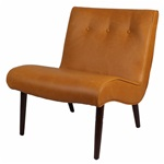 The Luna Chair - Caramel Bonded Leather