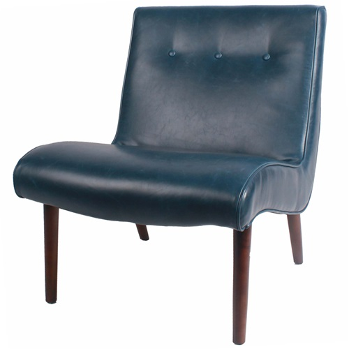 The Luna Chair - Navy Bonded Leather