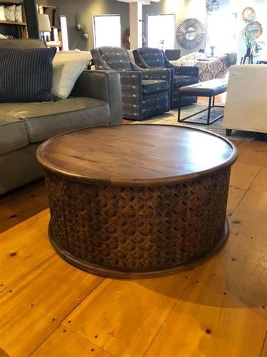 Mango Drum Coffee Table