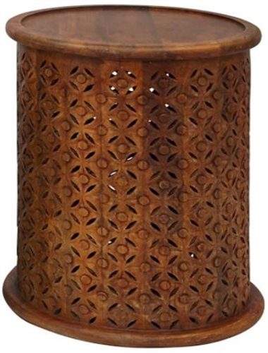 Mango Drum Side Table