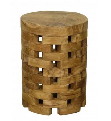 Round Teak Side Table.Round Teak Side Table