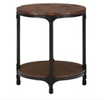 Factory Mill Round Side Table