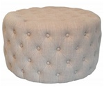 Round Low Tufted Ottoman