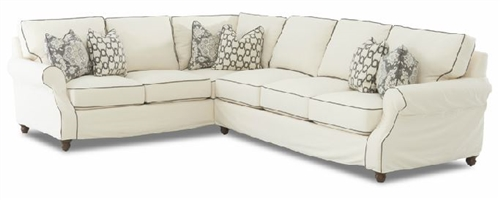 Vineyard Slipcovered Sectional - Individual Pieces