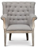 Welsh Tufted Wing Chair