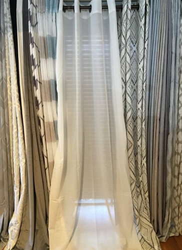 White Sheer Curtain - 84""