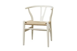 Wishbone dining chair - White