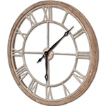 Wood + Metal Clock - 19.5""