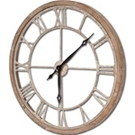 Wood + Metal Clock - 25""