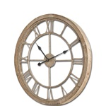 Wood + Metal Clock - 31""