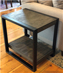 Wood & Metal Side Table