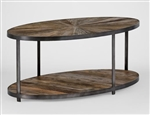 Oval Sunburst Coffee Table